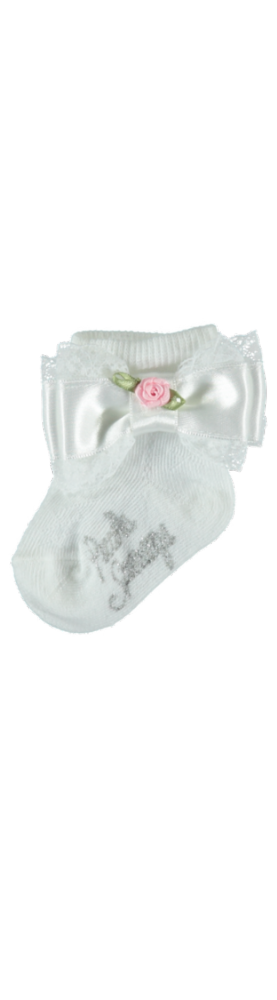 Piccola Speranza Girls Bow And Rose Socks